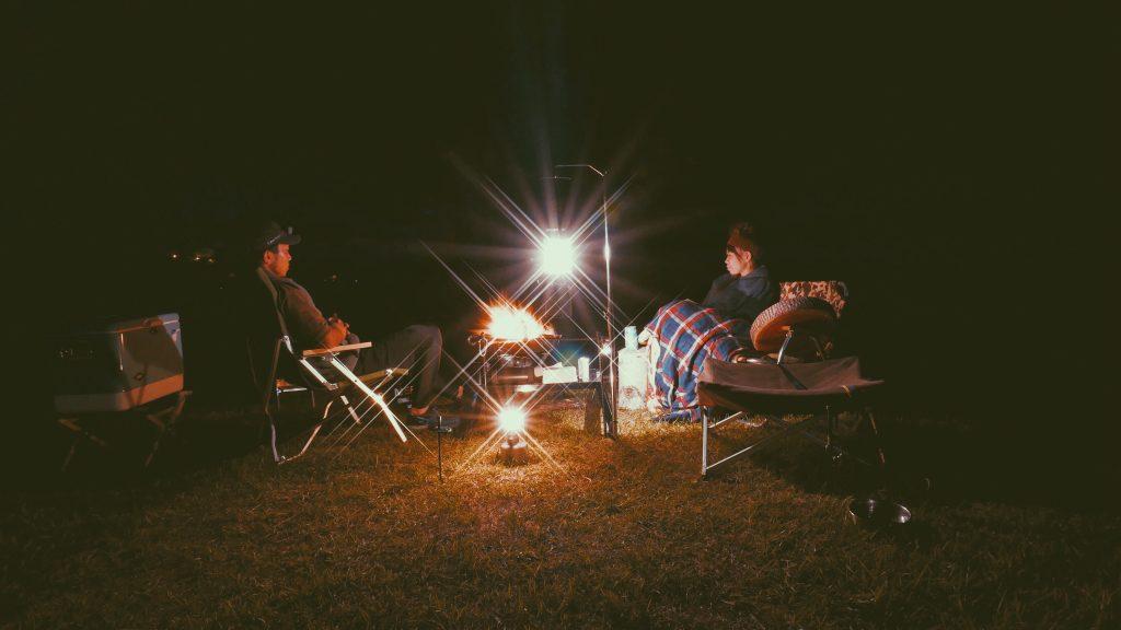 キャンプ焚き火
