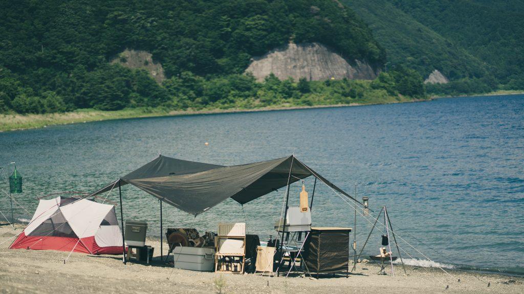 浩庵キャンプ場でDDタープ