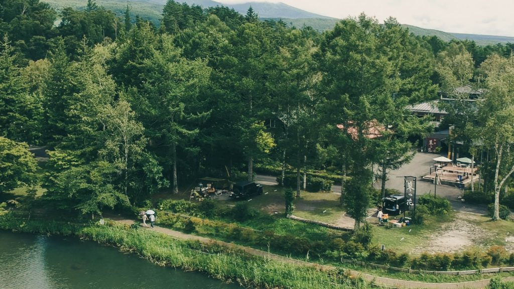 蓼の花キャンプ場ドローン写真