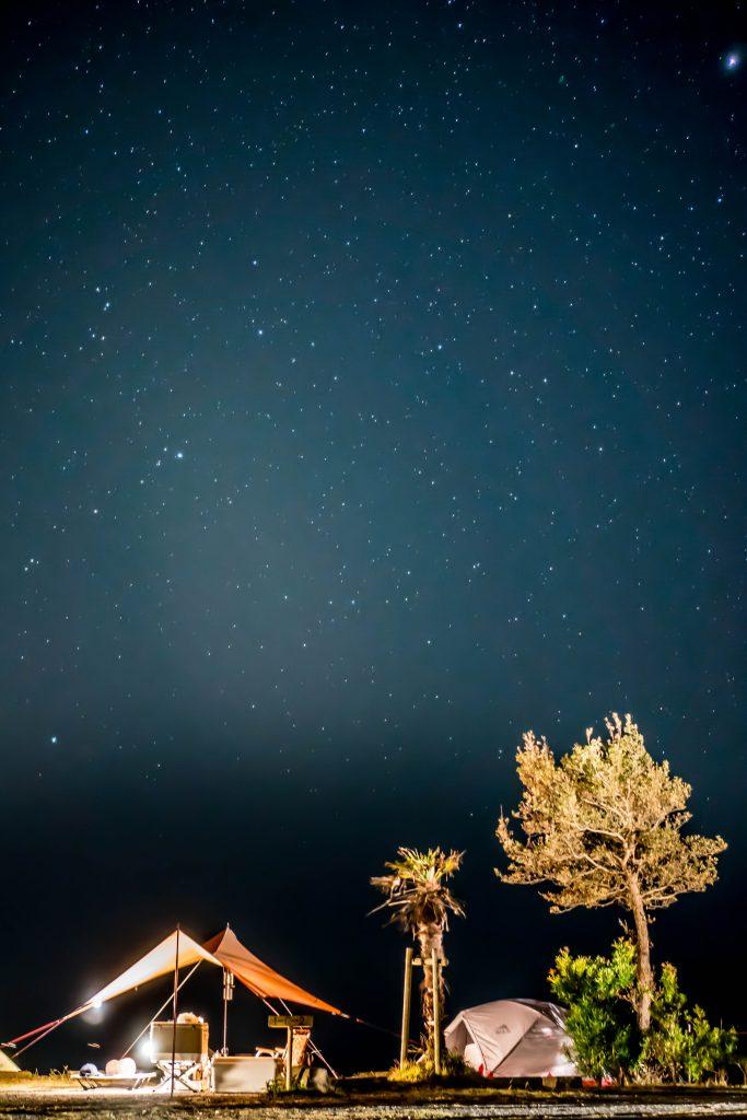夕日ヶ丘キャンプ場の星空